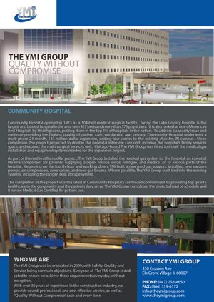 YMI Group Community Hospital Case Study 2015
