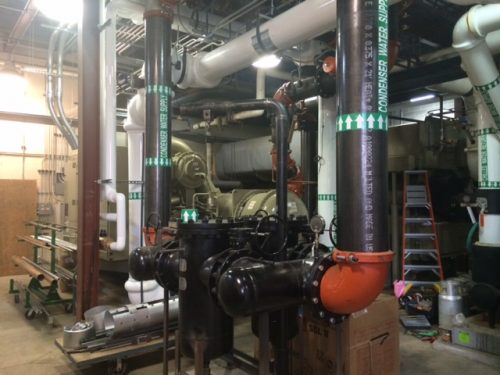 Installation of Trane 1,000 Ton at St. Mary's Hobart
